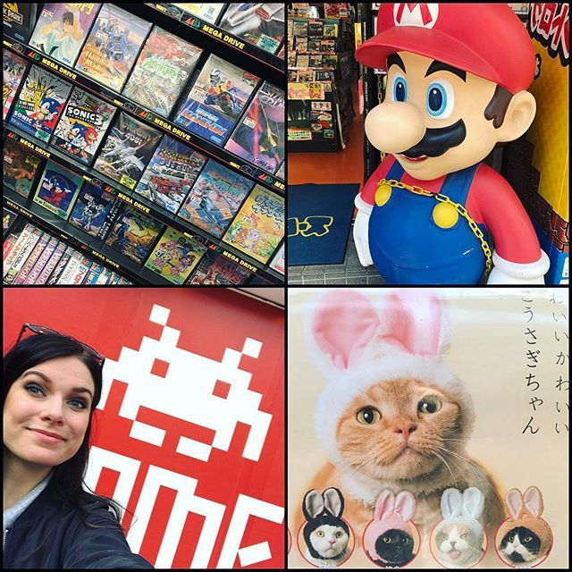 Great day today in Osaka with my friends ^_^ visited three retro game shops, played at a bunch of arcades and bought even more bonnets, this time with bunny ears, for my cats 😆🙌 - #retrogames #retrogaming #gameshops #osaka #japan #cats #catswithbunnyears #catbonnet #mario #supermario #nintendo #sega #segamegadrive