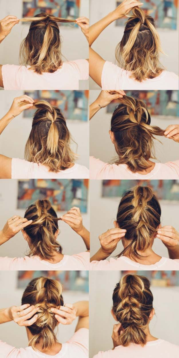 Short Hair Styles You Can Do In 10 Minutes or Less – French Pull Through Braid W…