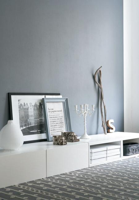 42 beste afbeeldingen over kleuren muur keuken en for Pintura pared gris azulado