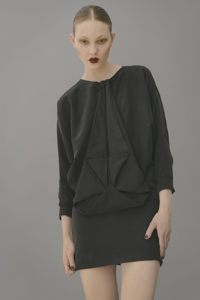 Design: Maria Carstens // Origami dress in silk