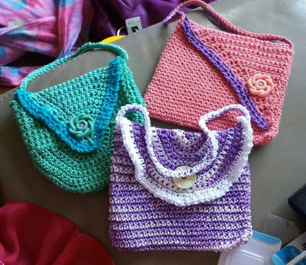 Cute little crochet bags