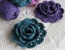 crochet rose tuto