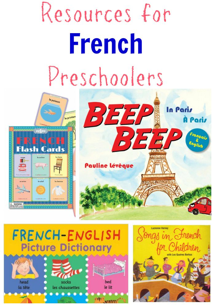 Books, songs and more: Resources for French preschoolers