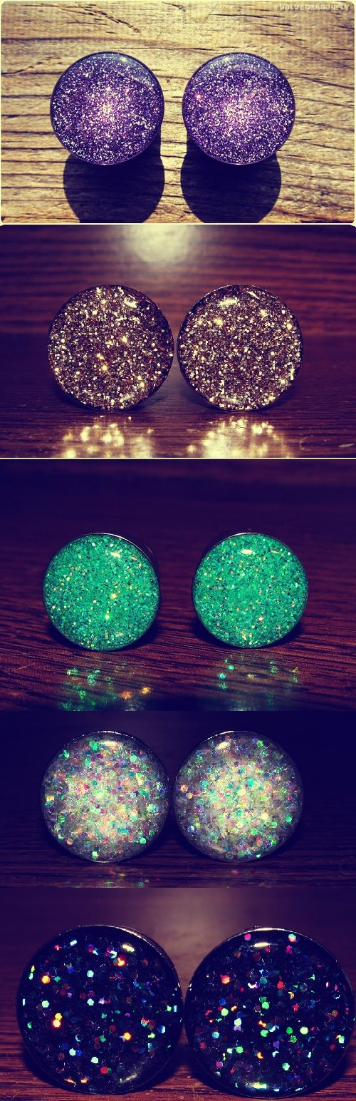 I don't wear them but I love the colors! # glitter plugs