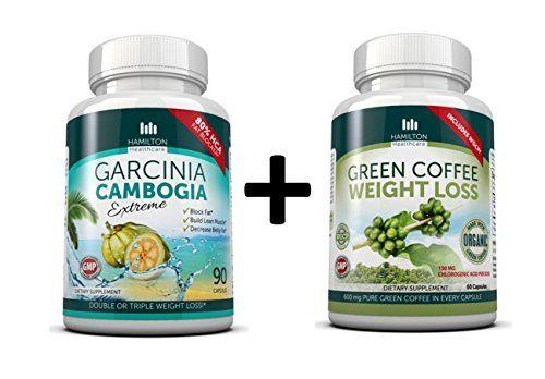 Hamilton Healthcare Garcinia Cambogia with Organic Green Coffee Bean Supplement - 2 Pack