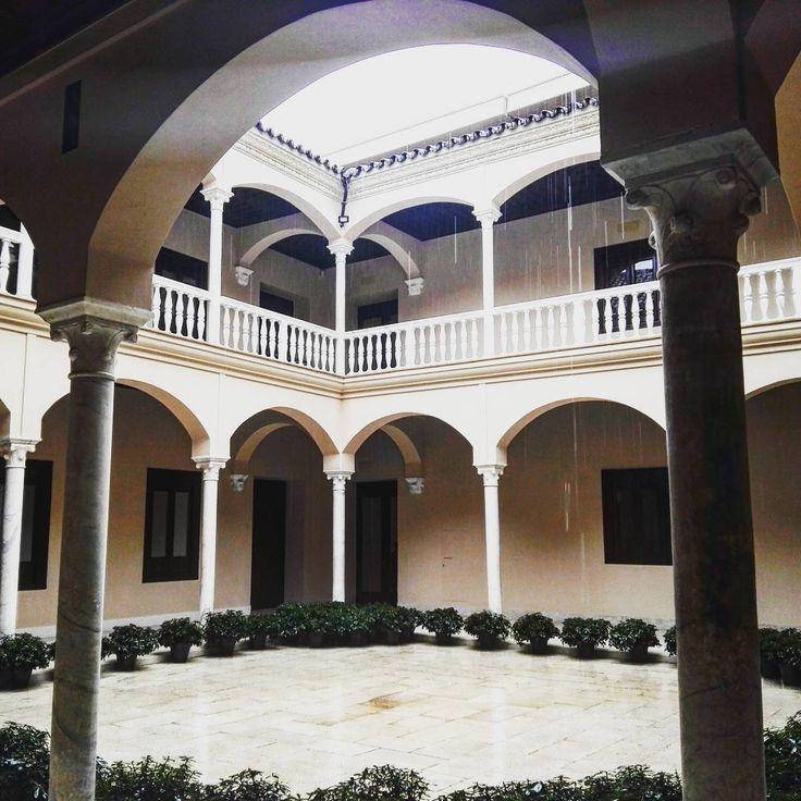 Foto de Instagram de @papiercouche   Patio del Palacio Buenavista, sede del Museo Picasso de Malaga #museopicassomalaga #palaciobuenavista #malagacity #visitmalaga #museums #picasso #visitandalusia #architecture