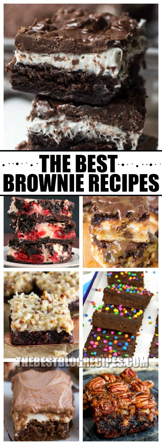 Who isn't obsessed with The Best Brownie Recipes for very Occasion? With so many twists on a classic favorite, this list has so many brownie treats that are absolutely to die for! via @bestblogrecipes