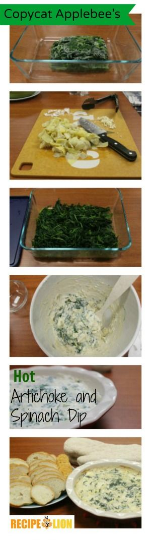 Copycat Applebee's Hot Artichoke and Spinach Dip was devoured in minutes when I made it for my coworkers. Spinach artichoke dip, copycat recipe