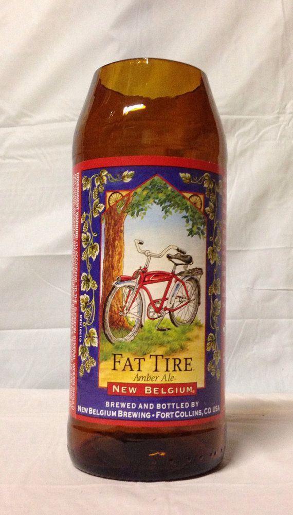 Fat Tire Beer Bottle Vase. Recycled glass bottle. on Etsy, $7.00