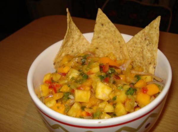 Spicy Tamarind Fruit Salsa (salsa De Tamarindo Con Mango Y Pina) Recipe
