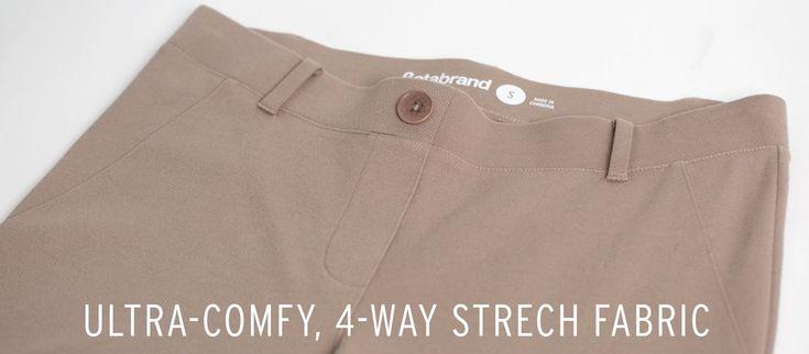 Straight-Leg   Khaki Twill Dress Pant Yoga Pants @womensgalore http://amzn.to/2mtTa79
