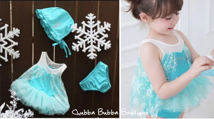 Beautiful 3 Piece Frozen Inspired Swimwear Set  $19.99  Worldwide Shipping  Layby Available info@chubbabubbaboutique.com  #frozenswimmers #frozenbathers #frozenswimwear #chubbabubbaboutique.com