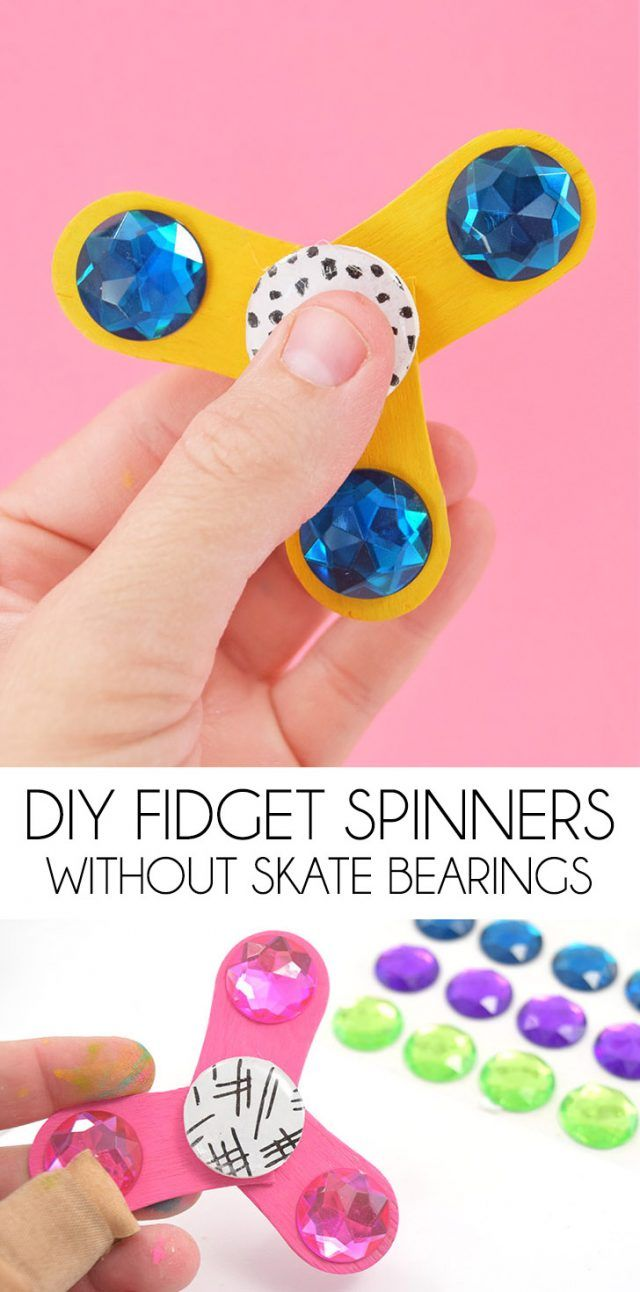 Make the coolest toy right now, a Fidget Spinner, at home easily and without skate bearings!