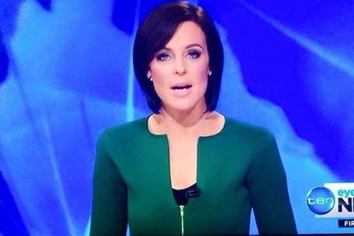 This Australian news anchor's dick jacket! Hey, that jacket is green, so it totally counts as a St. Patrick's Day-themed HSOTD.  You've probably already seen this BREAKING PEEN NEWS on CNN (Cock News Network, I wish there was a Cock News Network), but just in case you haven'
