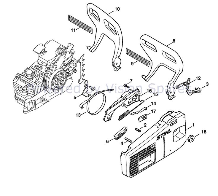 Stihl MS 200 Chainsaw (MS200Z) Parts Diagram, Chain