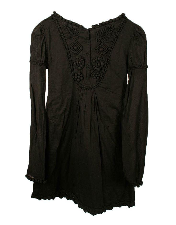 Vestido negro manga larga Hoss Intropia 124€