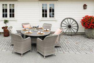 Firenze Bord - Hyggelig med rundt bord når man skal spise sammen ute. Hagemøbler som skaper stemning