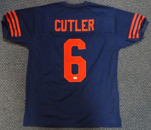 b2dea10b95d ... Chicago Bears Jay Cutler Autographed Blue Jersey PSADNA NWT Reebok ...