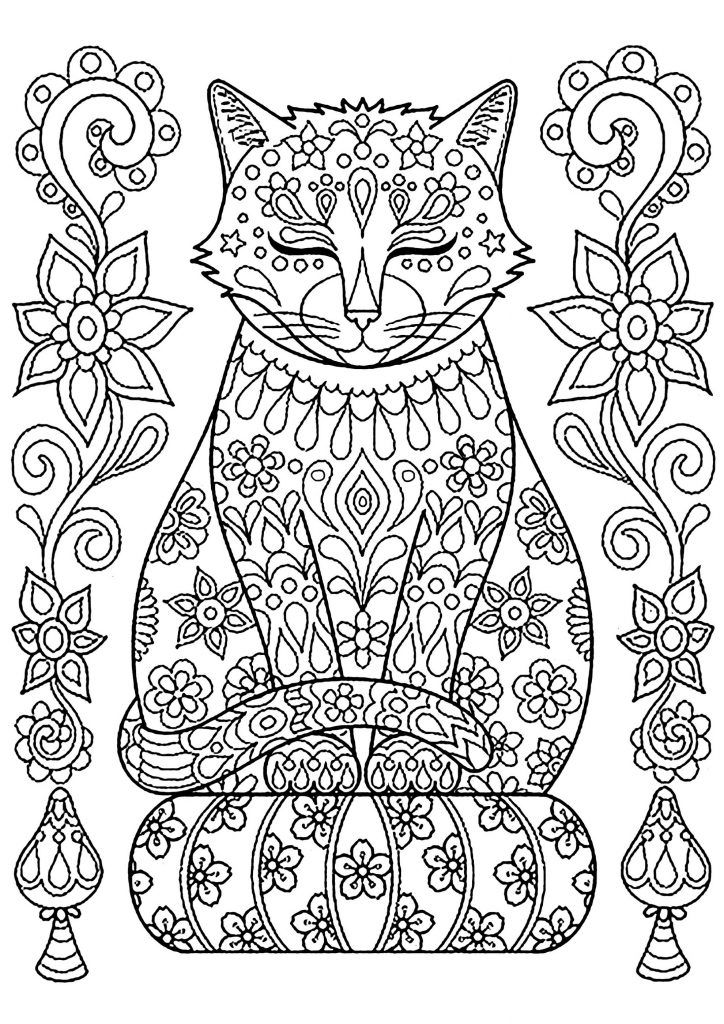 Cute Cat Coloring Pages For Kids Cat Coloring Page Mandala