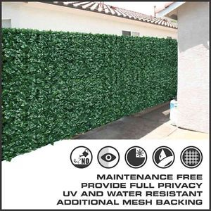 Artificial Privacy Fence Screen Faux Ivy Leaf Mesh Cover Panels Roll Long Full | eBay