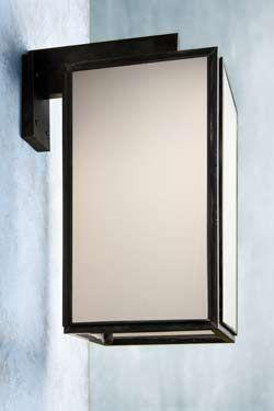 Grande applique extérieur bronze antique verre dépoli. Nautic by Tekna.