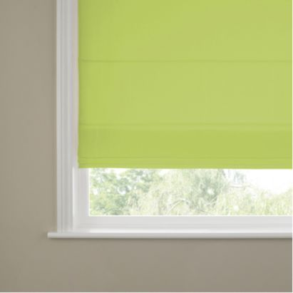 The Mallee Lime Blossom Roman Blind is a modern fixing which adds a very tasteful and delightful touch to your window. #green