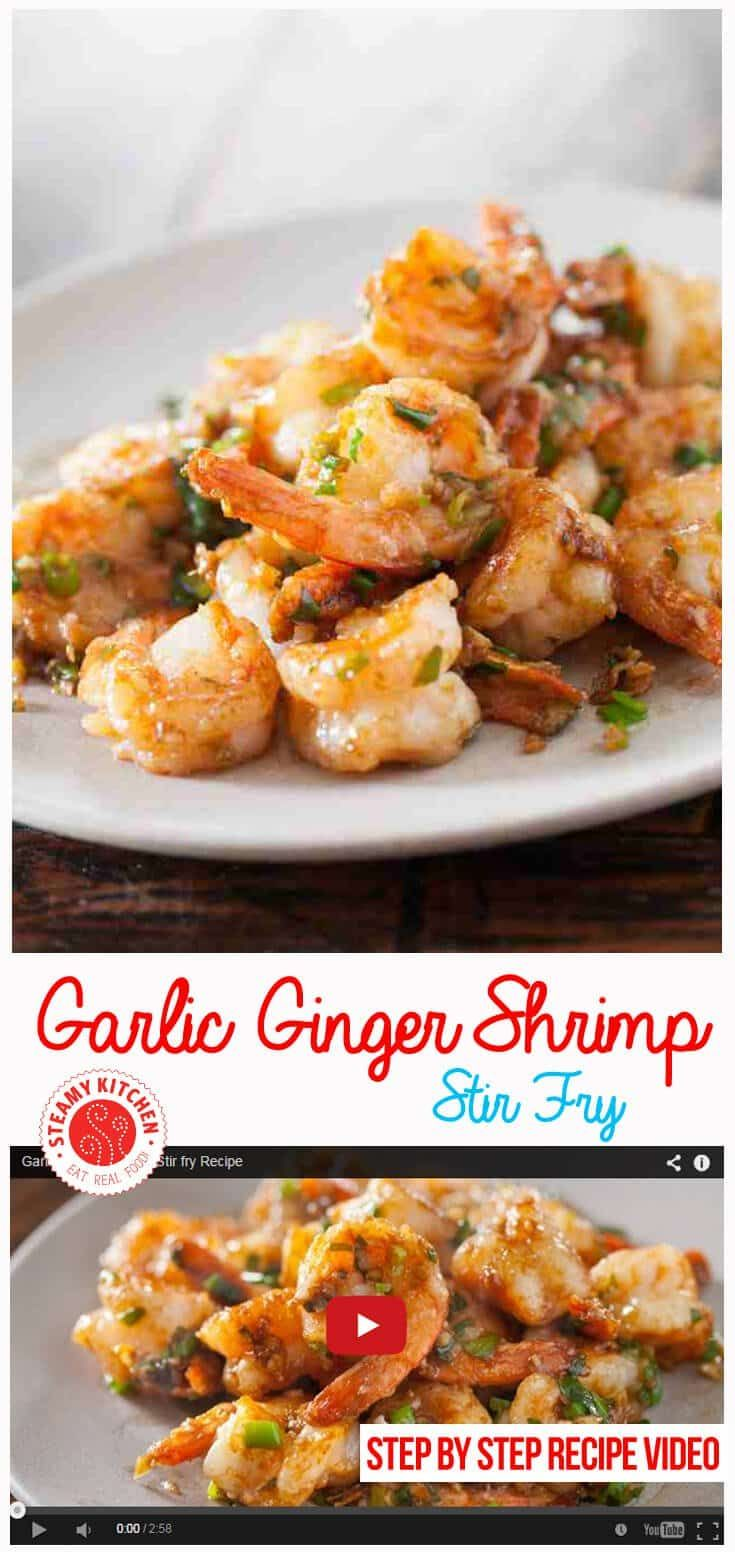 15 minute Chinese Shrimp Stir Fry recipe: secret to crisp-crunchy shrimp using flavor-packed Chinese