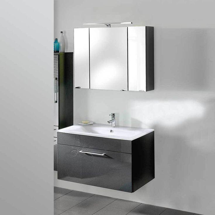 Badezimmer Set In Anthrazit Hochglanz Mit Waschtisch (2 Teilig) Jetzt  Bestellen Unter: