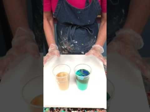 Acrylic Paint Pouring: Double Dirty Landscape Technique - YouTube