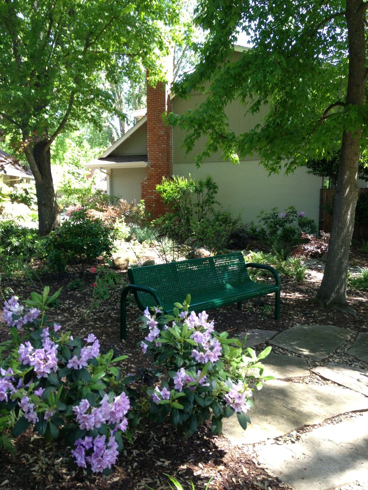 Front Yard Bench Area