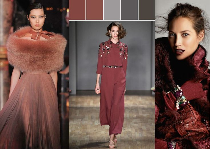 Shades of Marsala from the Fashion World 2015