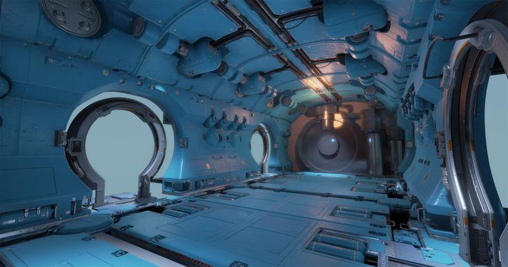 """Tor """"Snefer"""" Frick´s art : Space station + UE4"""