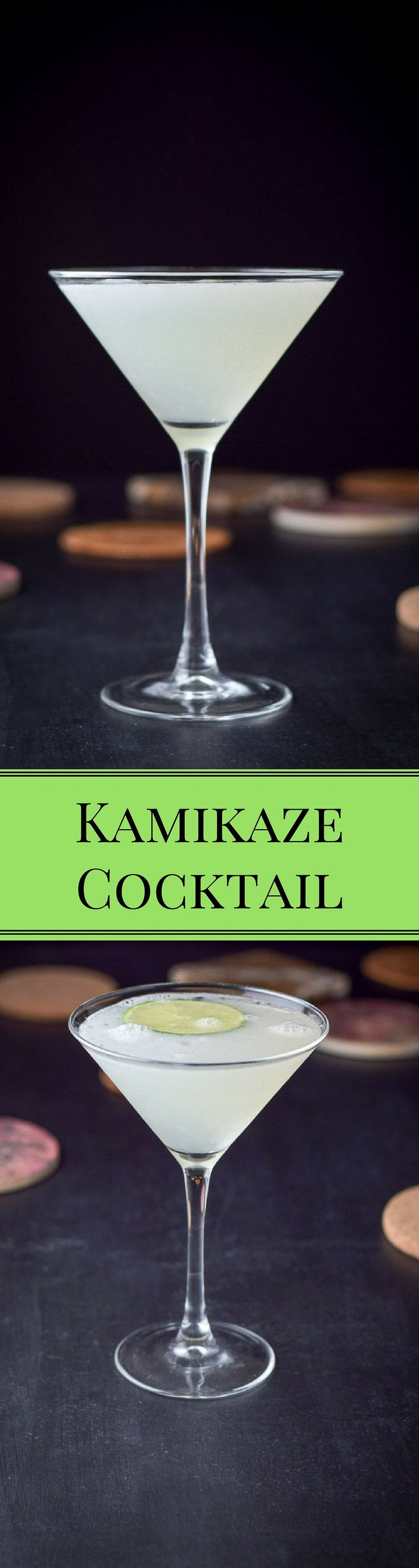 The Kamikaze cocktail.  3 ingredients in equal proportions but although it is easy, it doesn't lack in taste.  It's a classic! http://ddel.co/nkamikaze