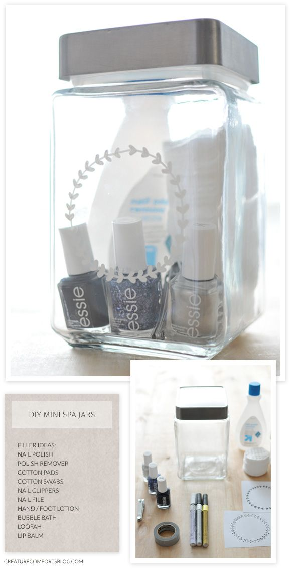 Spa in a Jar: Treat her to some relaxation with a DIY spa in a jar.