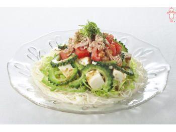 ゴーヤーとトマトとツナのサラダそうめん|とっておきレシピ|キユーピー