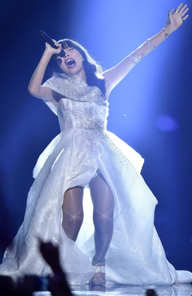 Dami Im killed it on stage during the second Eurovision Song Contest semi-final in Stockholm. Picture: AP/Martin Meissner #eurovision #eurovision2016 http://www.casinosolutionpro.com/eurovision-betting-odds.html