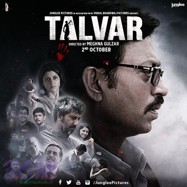 Talvar- The most controversial case of India Reopens. Genre- Thriller Based on a true event of 2008 Noida double murder case, Talvar is a movie that will make you face the reality of the Indian jud...