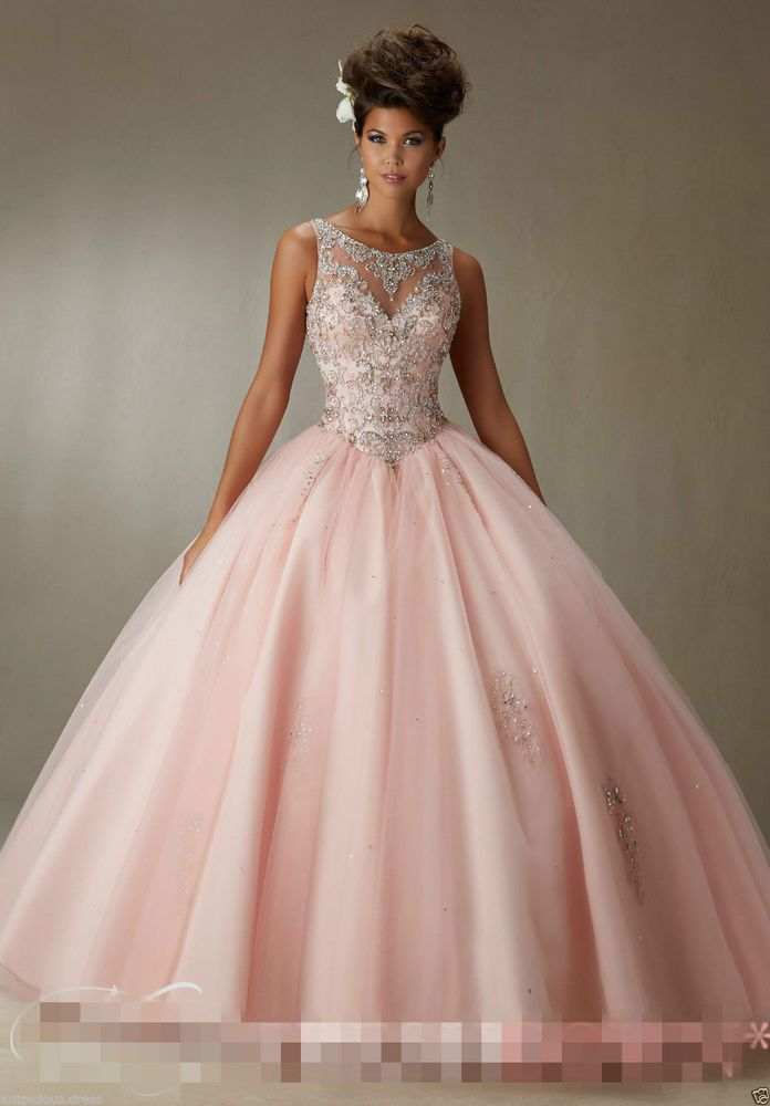 Quinceanera Dress New Ball Gown Beaded Bridal Cocktail Party Prom Dresses Custom #Unbranded #BallGown #Formal