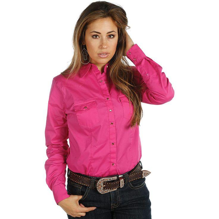 Women's Wrangler Pink Ultimate Riding Snap Shirt