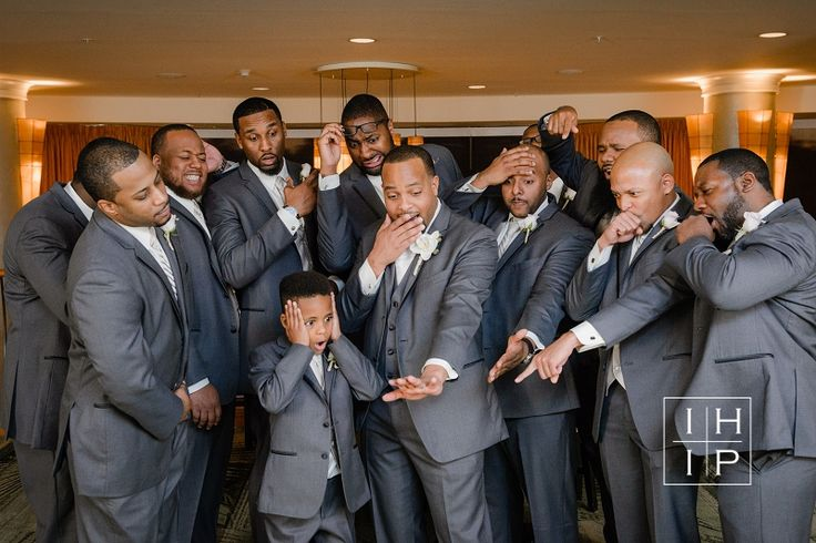 Groomsmen can't believe he's getting married