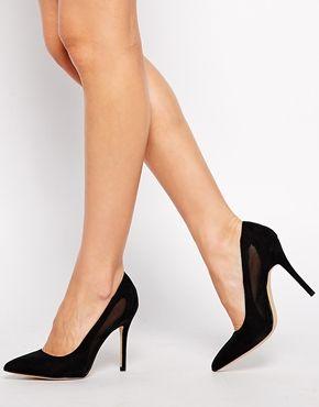 Увеличить Черные туфли-лодочки на каблуке NewLook Robby