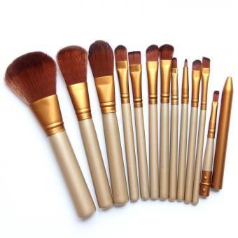 Set de 12 Brochas para Maquillaje-Marrón