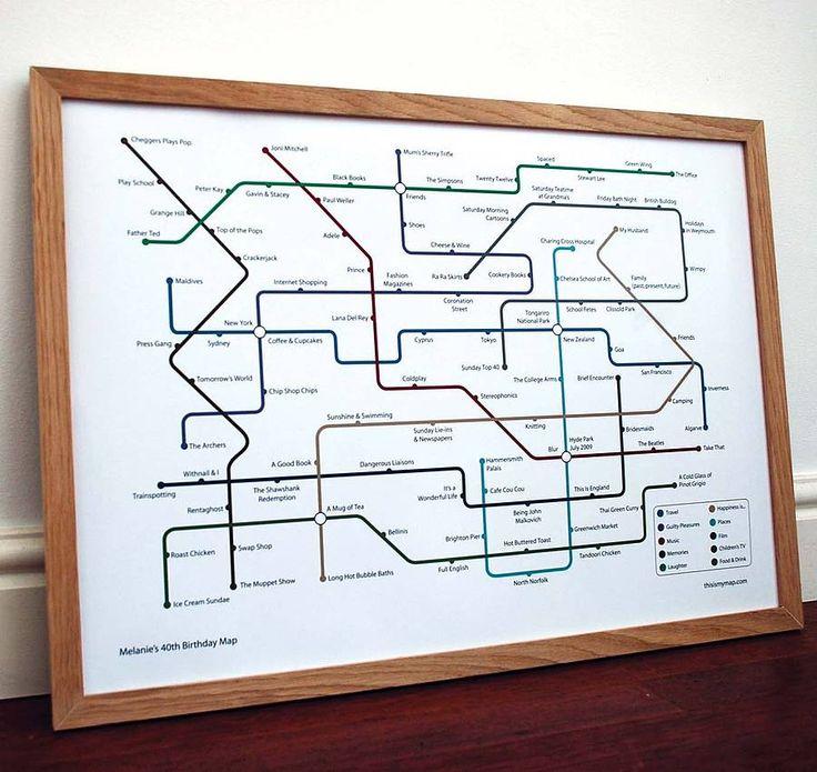 Personalised Metro Map Print