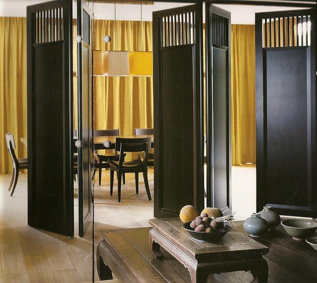 Christian Liagre - folding screens, draped walls.