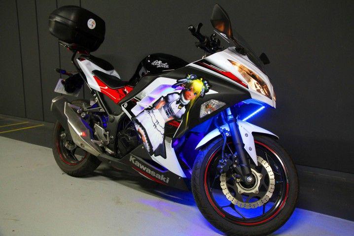 Ninja250を痛バイク化しました 痛ブロ ステッカー バイク 車 ステッカー