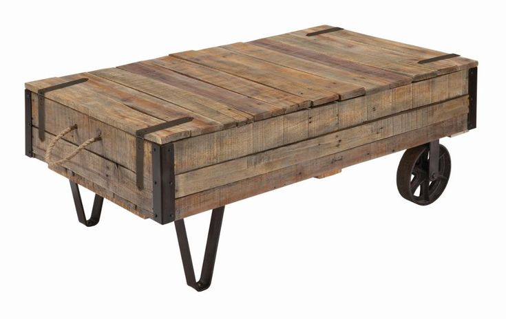 Homecoming Industrial Cart Cocktail Table by Kincaid Furniture