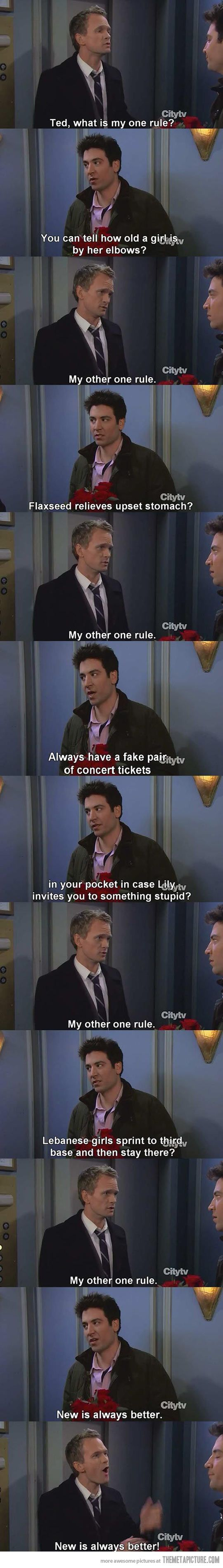 I don't even watch How I Met Your Mother on a regular basis but I find this quite hilarious. I probably should start watching it more often.