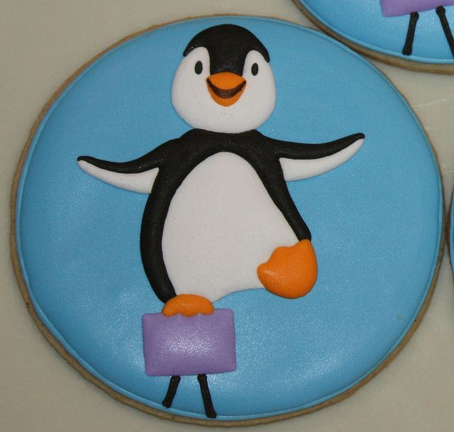 Penguin on the Balance Beam by TheHungryHippopotamus, via Flickr: Balance Beams, Cookies Art, Christmas Cookies, Cookies Decor, Cookies Birds, Balance Penguins, Cookies Cak Decor, Beams Cookies, Penguins Cookies