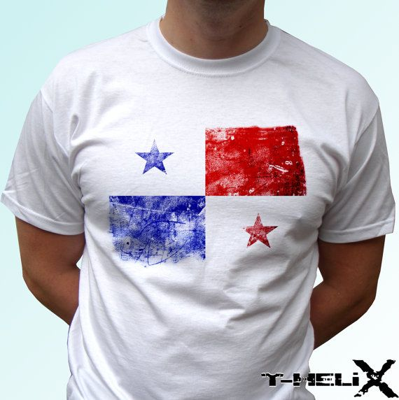 Panama Flag  new white holiday t shirt country by TshirtHelix