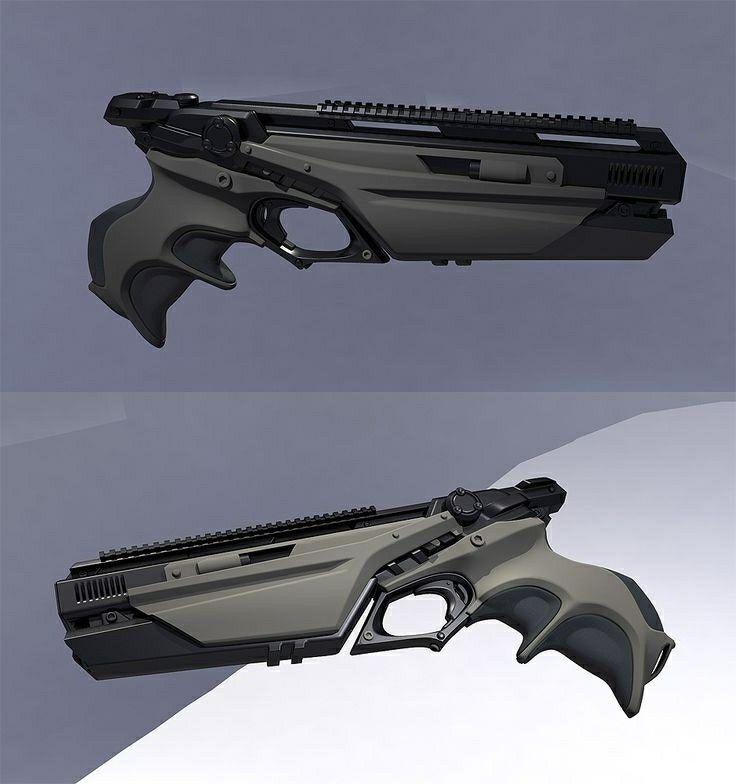 Futuristic pistol | Weapon | Hand guns, Guns, Concept weapons